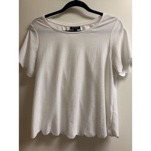 Topshop Scalloped T-Shirt Size 8
